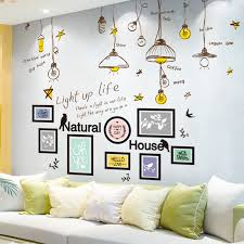 Shijuekongjian Photo Frame Wall Stickers Diy Chandelier Wall Decals For House Kids Rooms Baby Bedroom House Decoration Wall Stickers Aliexpress
