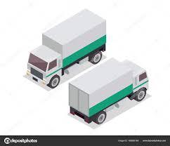 Modern Isometric Urban Vehicle Illustration Logo Cargo Delivery ...