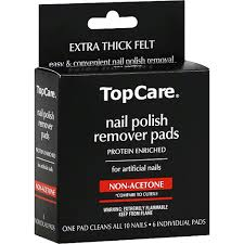topcare nail polish remover pads for