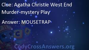 Agatha Christie West End Murder-mystery Play Answers - CodyCrossAnswers.org