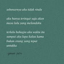 ▷ puisiesok puisi esok hari teringat kok terus seyeng rindu
