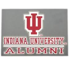 Color Shock Iu Indiana University Alumni Car Decal Indiana University Indiana University
