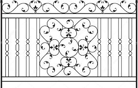 Wrought Iron Gate Door Fence Window Grill Railing Design Vector Art Premium Vector In Adobe Illustrator Ai Ai Format Encapsulated Postscript Eps Eps Format