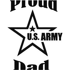 Proud Us Army Dad Vinyl Decal Sticker
