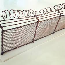 Gaslands Miniature Chain Link Fence With Razor Wire Scenery 20mm Scenery Props Paint Toys Games Wargames Role Playing