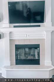 easy diy farmhouse fireplace makeover