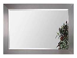stainless wall mirror brushed chrome