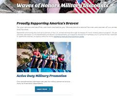 waves of honor tickets for military