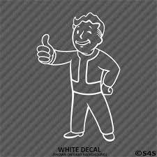 Vault Boy Vinyl Decal Sticker V2 Choose Color Fallout 76 Pipboy