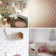 Baby Girl Bed Room Decoration Gold Heart Wall Stickers For Kids Room Wall Decal Room Wall Decals Fox Ho113 Wall Stickers Aliexpress