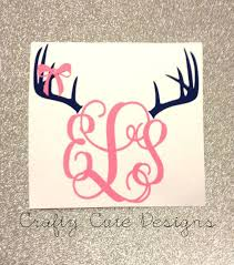 Hey I Found This Really Awesome Etsy Listing At Https Www Etsy Com Listing 179448786 Monogrammed Antlers W Bow Decal Monogram Baby Girl Room Girl Nursery