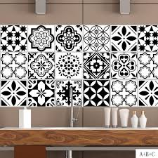 Black And White Nordic Style Retro Tile Sticker 20 100cm Pvc Bathroom Kitchen Waterproof Wall Sticker Home Decor Floor Art Mural Custom Wall Decal Custom Wall Decals From Xuol 21 33 Dhgate Com