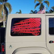Usa Pledge Flags Window Decals 4x4 Graphics Llc