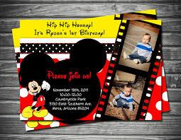 Mickey Mouse Birthday Invitation First Birthday Invitation