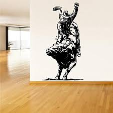 Xiting Cowboy Roper Horse Western Kids Room Decoration Home Decor Living Room Decorative Stickers Removable Wall Stickers Black Baby B0761qhq9p