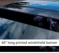 Buy 60 Panther V1 Wakanda Forever King T Challa Comic Sun Strip Printed Windshield Car Vinyl Sticker Decal