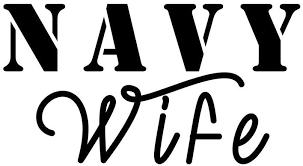 Amazon Com Military Spouse Navy Wife Soldier Vinyl Sticker Car Decal 6 White Automotive