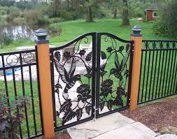 Hummingbird And Flowers Garden Gate Molnar Metal Art Designs In Durham Ontario Molnar Metal Art Desi Garden Fence Panels Fence Gate Design Iron Fence Panels