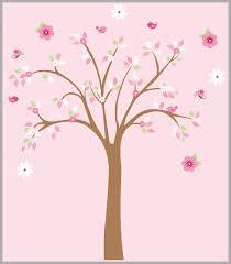 Girls Forest Nursery Wall Decal Girls Nursery Decor Wall Art Tree Nurserydecals4you