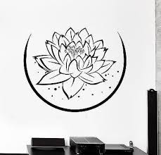 Wall Sticker Lotus Floral Flower Buddha Chakra Zen Vinyl Decal Unique Wallstickers4you
