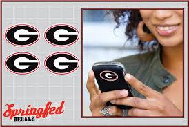 Georgia Bulldogs G Logos 4 Pack 2 Vinyl Decals Car Tru