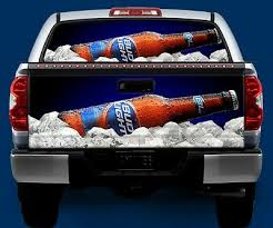 Bud Light Beer Tailgate Or Window Truck Tailgate Wrap Vinyl Graphic Decal Wrap Ebay