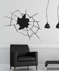 Vinyl Wall Decal Sticker Hole Through The Wall Os Aa388 Stickerbrand