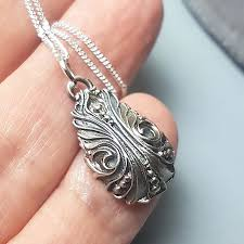 vintage style necklace sterling silver