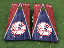 Product New York Yankees Cornhole Board Game Decal Vinyl Wraps With Laminated