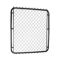 Master Halco 42 Op X 60 H Black Gate With 1 1 2 Black Chain Link The Home Depot Canada