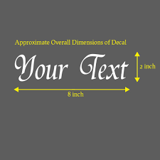 Your Text Vinyl Decal Sticker Car Window Bumper Custom Personalized Letters Eprintall