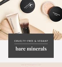 bare minerals vegan list