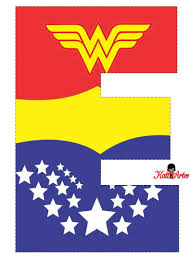 Wonder Woman Free Alphabet Alfabeto Gratis De La Mujer Maravill