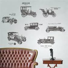 Vintage Car Wall Stickers For Kids Rooms Children Nursery Boy Room Wal Vango Decals