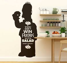 Simpsons Salad Quote Wall Sticker Tenstickers