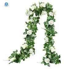 بوكيه ورد صناعي كرمة الحرير زهرة المنزل في الهواء الطلق الزفاف قوس