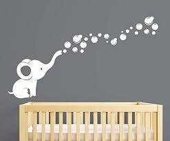 Amazon Com Elephant Bubbles Nursery Wall Decal Room Decor White Baby