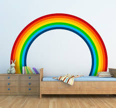 A Splendid Decal To Decorate The Bedroom Of Your Child A Design From Our Collection Of Rainbow Wall Sti Green Wall Decor Flag Wall Decor Rainbow Wall Stickers