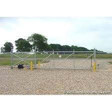 Hoover Fence Chain Link Fence Steel Cantilever Slide Gate Kits Automated Hoover Fence Co