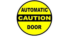 5x5 5 Pack Industrial Grade Safety Sticker For Automated Opening Closing Doors Made In Usa 5 Decals Caution Automatic Door Decal Sign Poster Kits