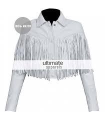 day off sloane peterson white fringe jacket