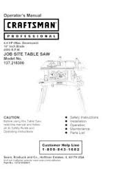 137 218300 Craftsman Professuional 4 4 Hp Job Site Table Saw