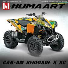 Kungfu Graphics Atv Full Coverage Decals Vinyl Stickers Vehicle Wraps Adhesive For Can Am Renegade X Xc 500 800r 800x 1000r Decals Stickers Aliexpress