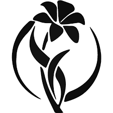 Lily Flower Vinyl Decal Sticker