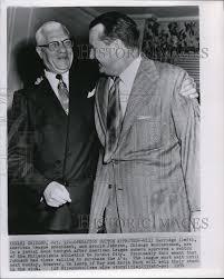 1954 Press Photo Will Harridge and Arnold Johnson of American ...