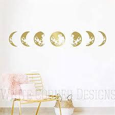 Amazon Com Moon Phases Wall Decal Moon Phases Decor Gold Moon Phases Modern Decals Moon Wall Decal Moon Phase Wall Art Ga109 Handmade