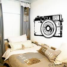 Amazon Com Retro Camera Self Adhesive Removable Clear Wall Decal Sticker Home Kitchen