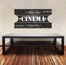 Cinema Room Wall Decal Movie Ticket Wall Decal Movie Room Etsy