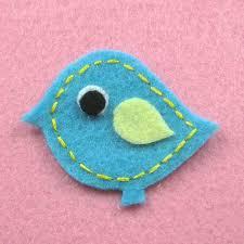 Handmade Baby Bird felt appliques A130 ...