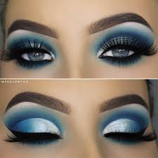 cute makeup ideas for blue eyes cat